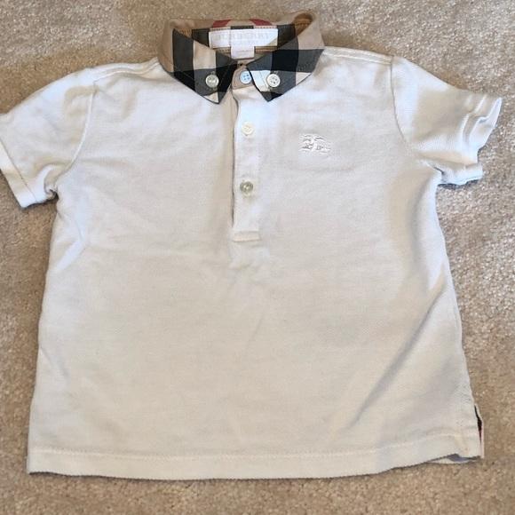 10eab24a Burberry Shirts & Tops | Boys White Polo | Poshmark